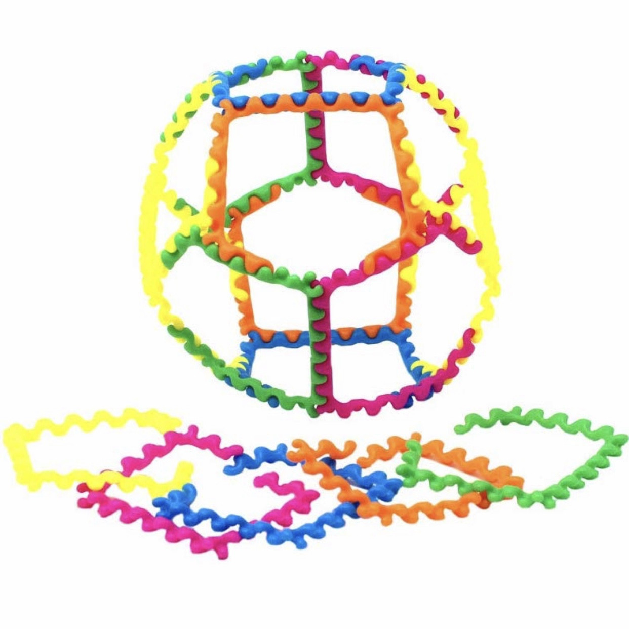 """Обучающий 3D-конструктор """"Радужные зигзаги"""" Learning Resources"""