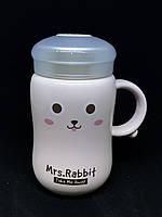 Керамическая чашка с термо - крышкой ( чашка - термос)