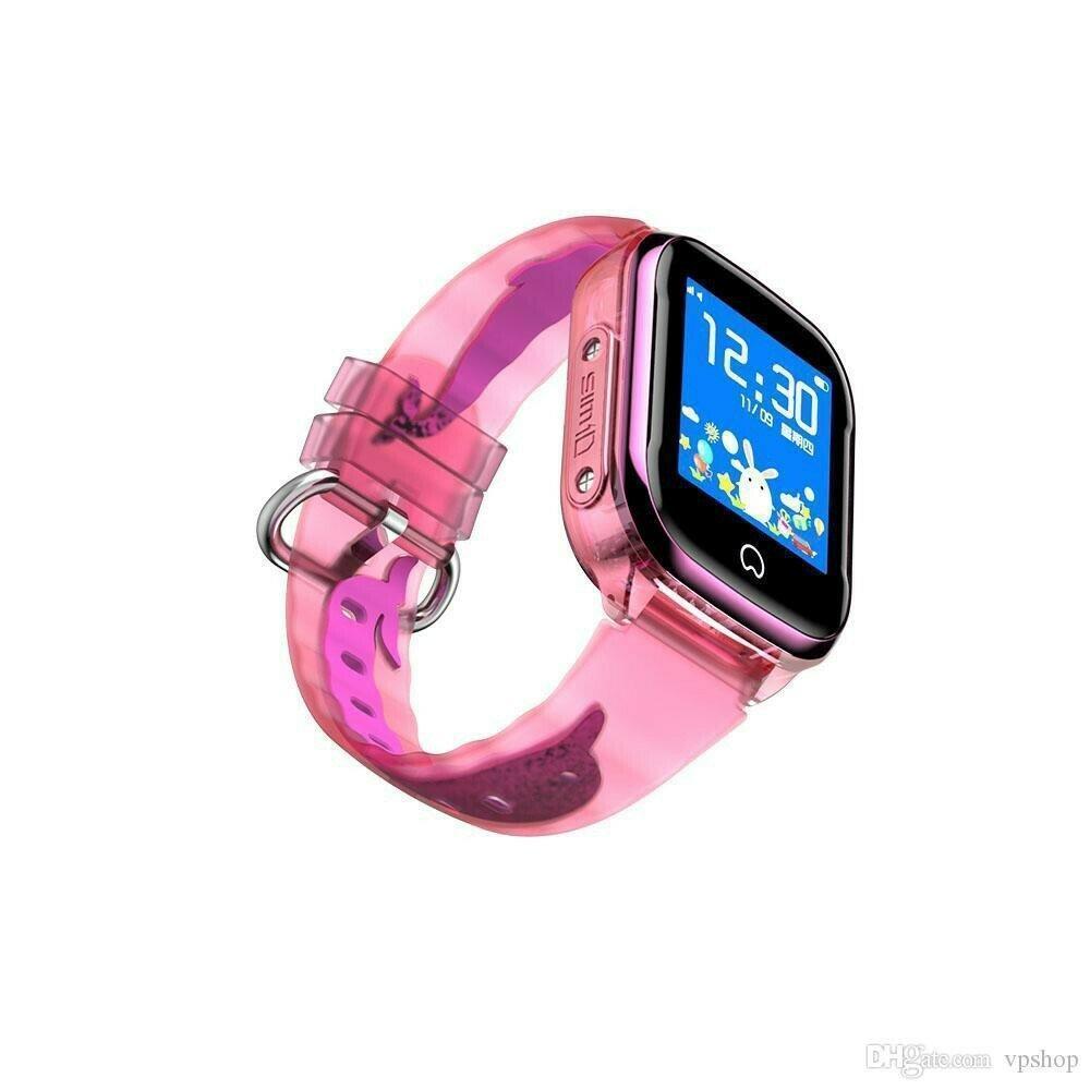 Детские умные часы Smart Baby Watch K21 Pink GPS LBS IP68 камера