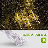 Гірлянда Метеоритний дощ «Тануть Бурульки» LED, 30 СМ тепло білий світ 3м, є з'єднання, фото 1