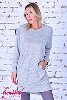 Платье из трикотажа с начесом для беременных и кормящих мам 8314 Genika
