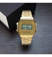 Часы CASIO Illuminator Gold (касио) Золотой и Серебрянный Браслет Мужские/ Женские годинник білий