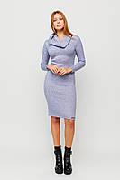 Женское ангоровое платье с воротником-хомутом, фото 1