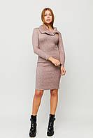 Ангоровое платье со съемным воротником-хомутом, фото 1