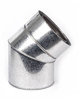 Дымоходное колено с термоизоляцией к/оц 45°, 0.5мм