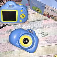 Фотокамера для детей Kids Camera c дисплеем Синяя