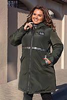 Зимняя куртка на силиконе. Размеры 52-54, 56-58, 60-62. Хаки, черный, бордо.