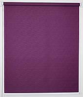 Готовые рулонные шторы 350*1500 Ткань Лён 613 Фиолетовый