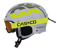 Горнолыжный детский шлем Casco cx-3 junior grey neonyellow, 50-56 (MD)