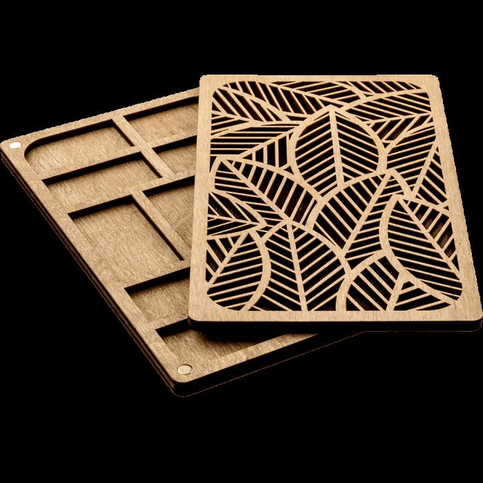 Органайзер для бисера с деревянной крышкой FLZB-049