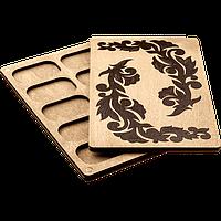Органайзер для бисера с деревянной крышкой FLZB-058