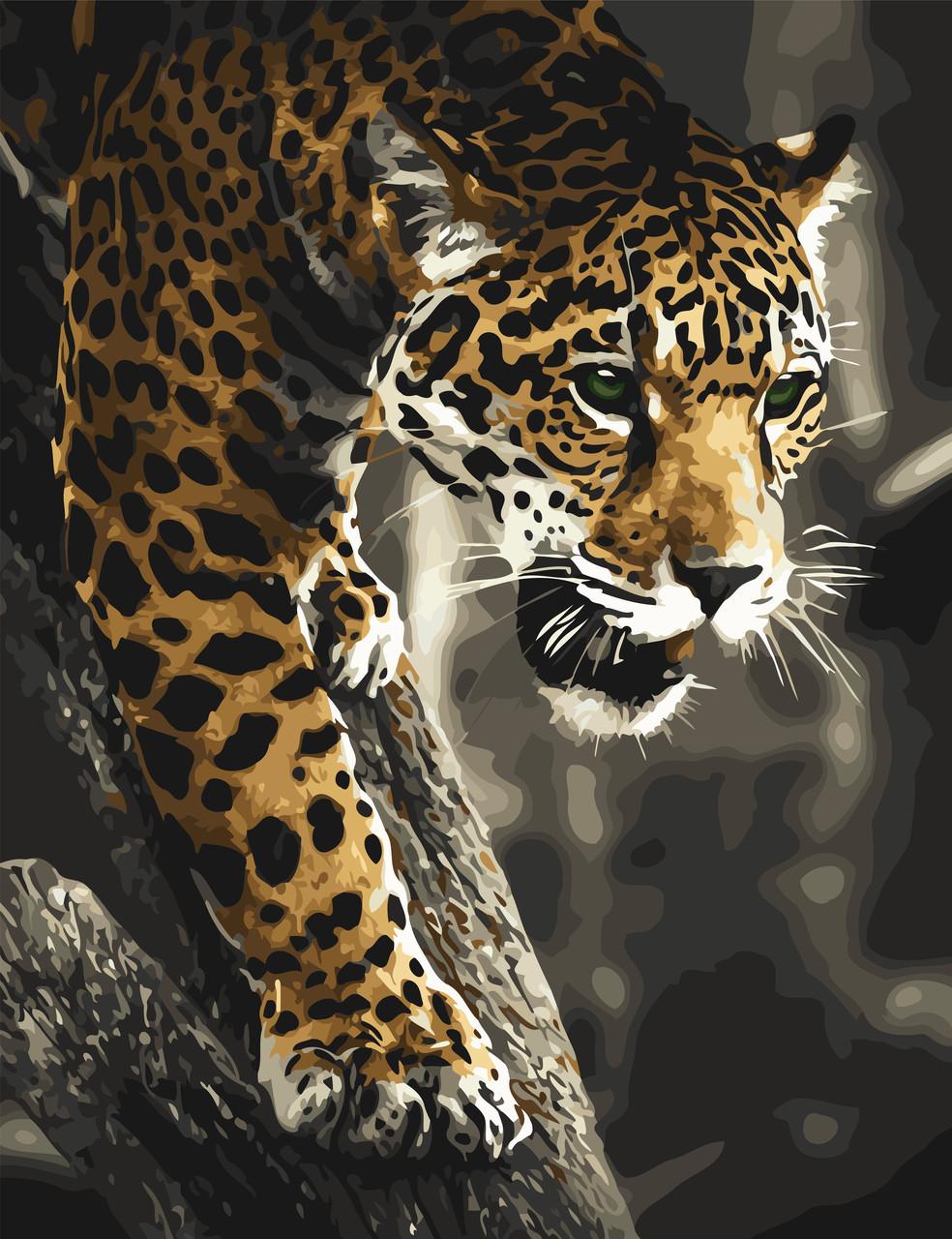 """Картина по номерам """"Хищник в джунглях"""" 50*65см в коробке ..."""