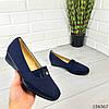 """Туфли женские синие """"Jose """" эко замша лоферы женские, фото 6"""