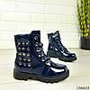 """Ботинки детские синие на шнурках """"Werex"""" эко кожа деми, фото 4"""