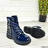 """Ботинки детские синие на шнурках """"Werex"""" эко кожа деми, фото 6"""