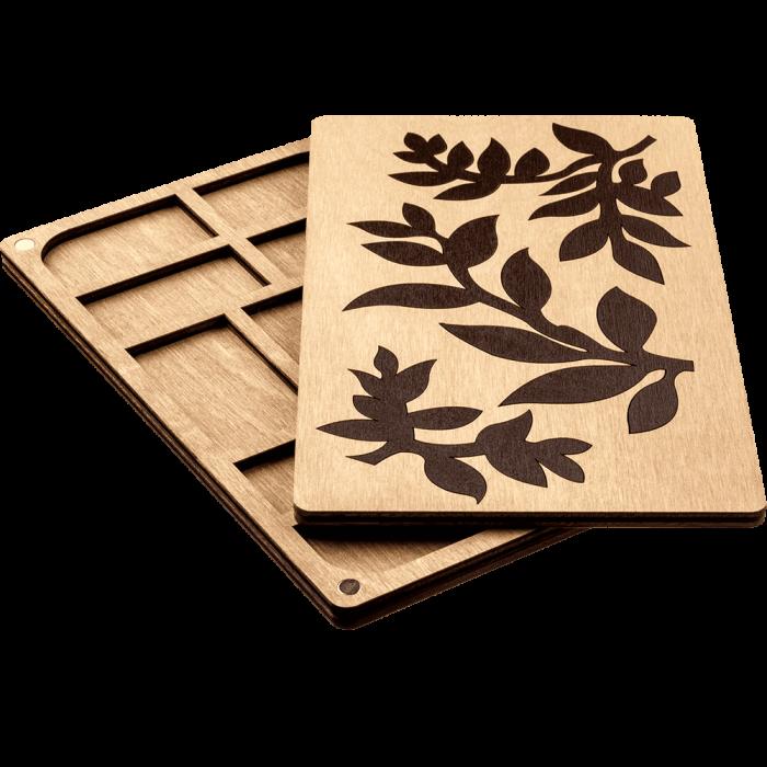 Органайзер для бисера с деревянной крышкой FLZB-062