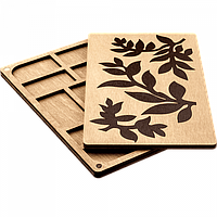 Органайзер для бисера с деревянной крышкой FLZB-062, фото 1