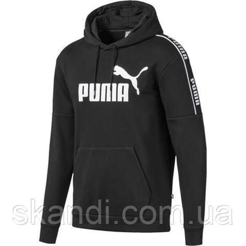 Толстовка мужская Puma Amplified Hoody FL черная 580430 01