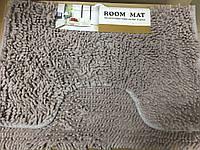 Набор ковриков для ванной комнаты и туалета Лапша 2 предмета 60*90 см и 40*60 см / серый