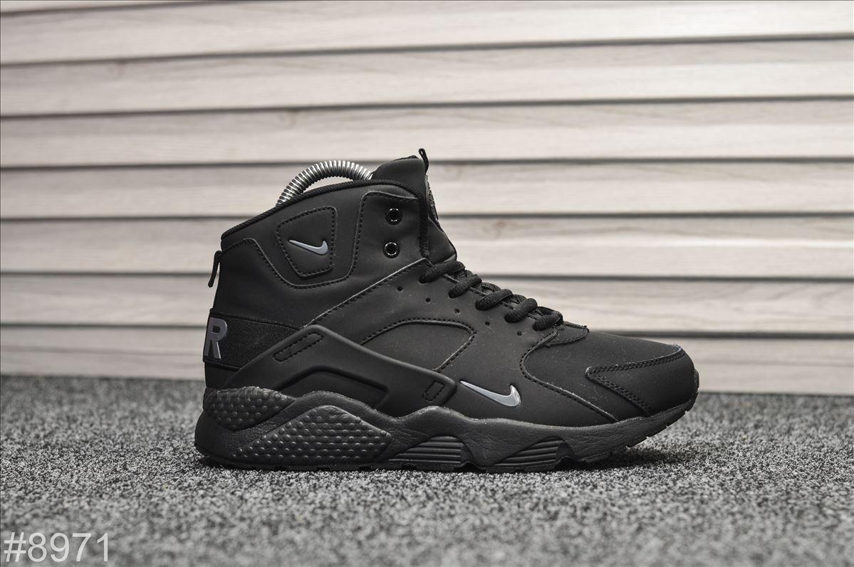 Зимние кроссовки Nike Air Huarache Dark Gray (WNTR) НА МЕХУ