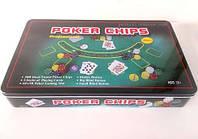 Настольная игра International Toys Trading LTD Покерный набор на 300 фишек с номиналом + сукно (жестяная коробка) (IG-3007)