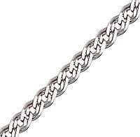 Серебряная цепочка НОННА, МОНА ЛИЗА 5 мм, 55 см, фото 1