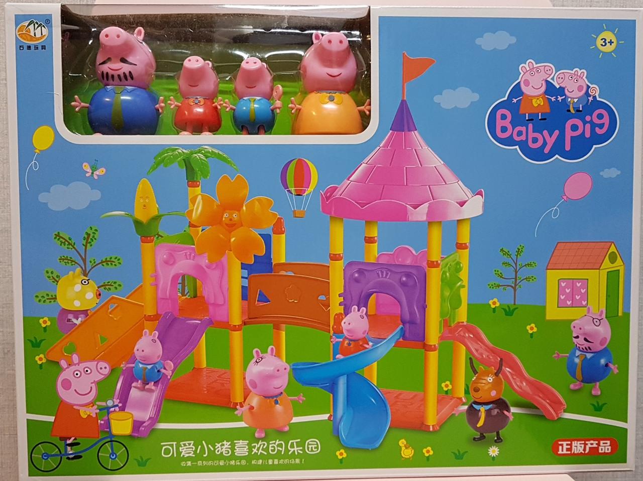 Свинка Пеппа на детской площадке