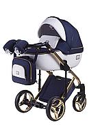 Дитяча універсальна коляска 2 в 1 Adamex Luciano Polar Gold 809, фото 1
