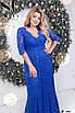 Гипюровое платье в пол с глубоким декольте 50-52;54-56; 58-60, фото 4