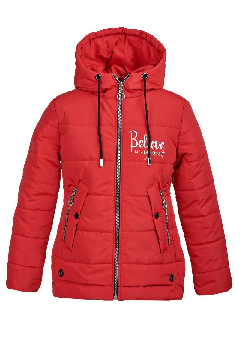 Демисезонная куртка из плащевки на девочку от 8 до 11 лет, размеры 134-152