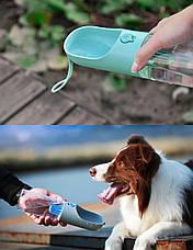 Переносная поилка для собак и кошек PETKIT EVERSWEET Travel 400мл MINT - Мятная, фото 3