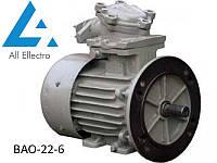 Взрывозащищенный электродвигатель ВАО-22-6 1,1кВт 1000об/мин