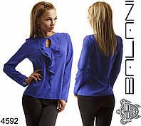 Женская блуза с рюшами на пуговице, фото 1