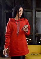 Телое женское худи красного цвета Daria
