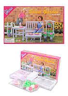 """Мебель """"Gloria"""" 9876 для сада,скамейка,цветы ,в кор. 30*19*5см /36-3/"""