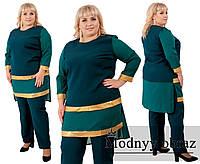 Женский нарядный брючный костюм №263 в расцветках (р.56-62), фото 1