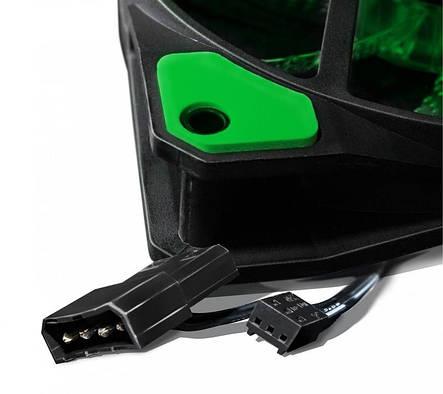Вентилятор Frime Iris LED Fan 33LED Green (FLF-HB120G33); 120х120х25мм, 3-pin+4-pin, фото 2