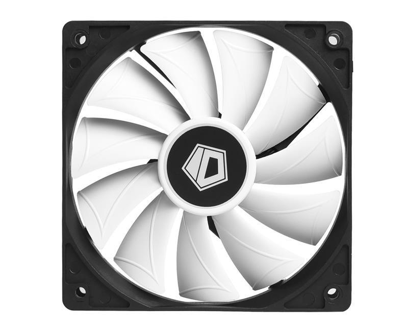 Вентилятор ID-Cooling XF-12025-SD-W, 120x120x25мм, 4-pin, черный