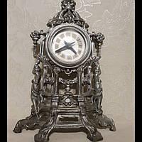 Антикварные каминные часы из шпиатра Германия