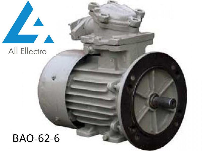Вибухозахищений електродвигун ВАО-62-6 13кВт 1000об/хв