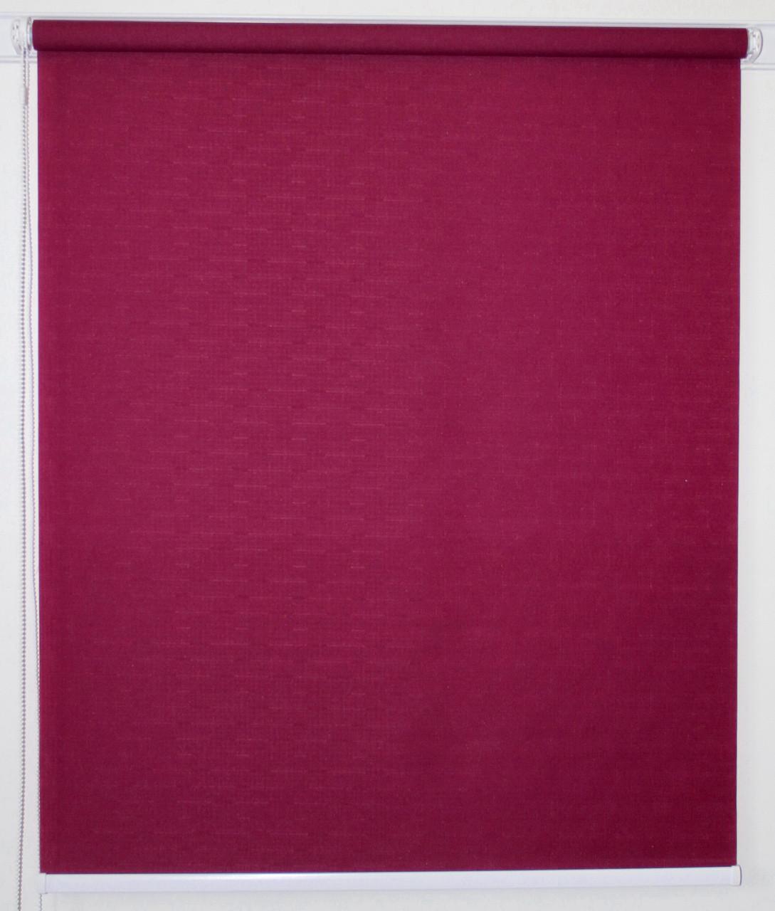 Рулонная штора 1400*1500 Ткань Лён 7435 Фуксия
