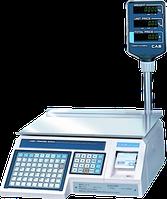 Весы торговые с принтером этикеток CAS LP R