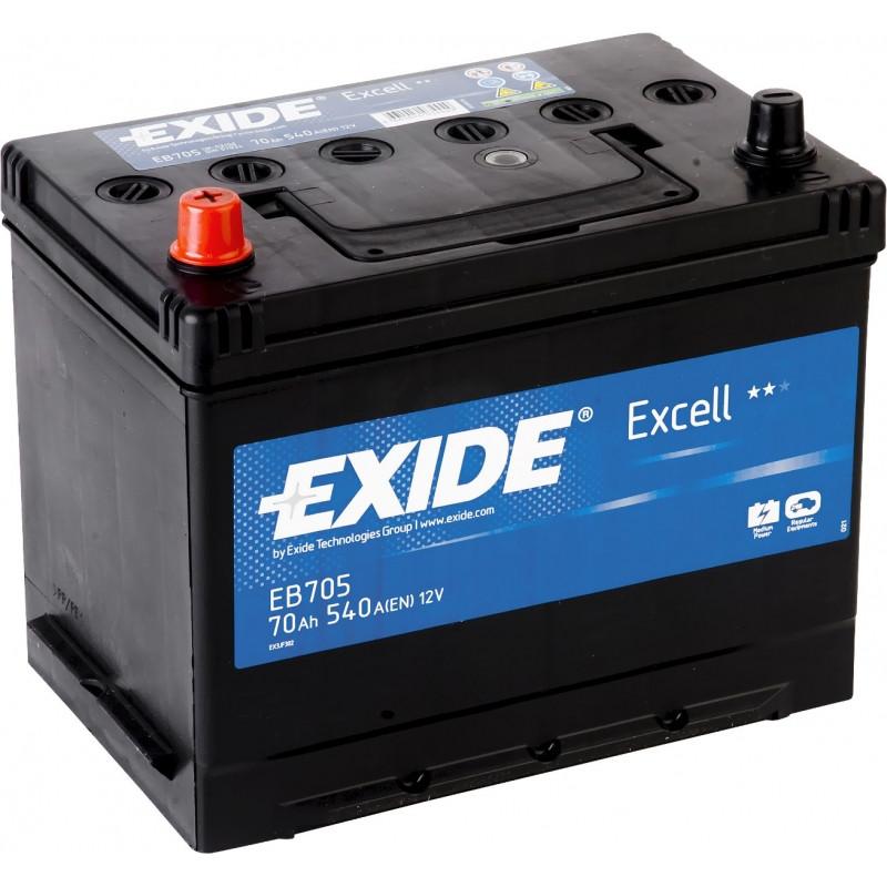 EXIDE 6СТ-70 Аз EXCELL EB705 Автомобильный аккумулятор
