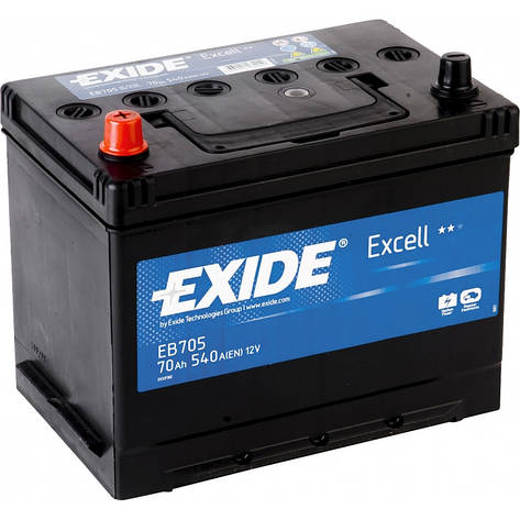 EXIDE 6СТ-70 Аз EXCELL EB705 Автомобильный аккумулятор, фото 2