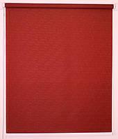 Рулонная штора 300*1500 Ткань Лён 888 Вишнёвый, фото 1