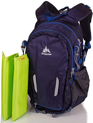 Яркий женский городской рюкзак 22 литров Onepolar W1537-blue синий