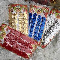 Новогодние елочные украшения Бантики набор 12 шт 6 см