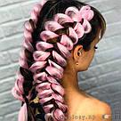 Канекалон цветной, нежно розовый 💗, фото 5