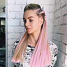 Канекалон цветной, нежно розовый 💗, фото 6