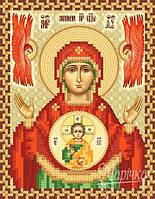 Схема для вышивки бисером Икона Божией Матери Знамение РИП-5226